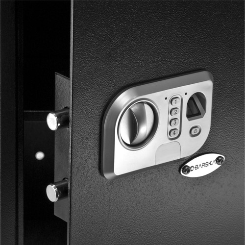 Pin code and Fingerprint access for this Barska Safe