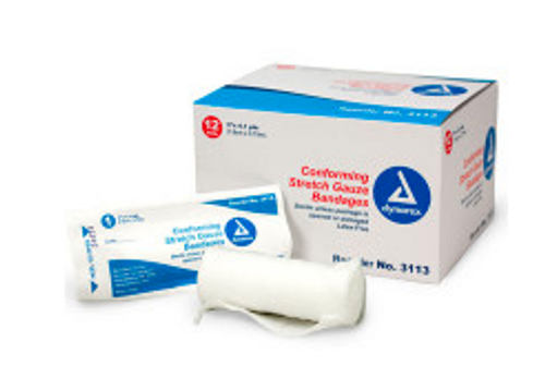 "Conforming Gauze Roll Bandage, Sterile 3"" x 4.1 yd - Individual"