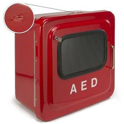 Outdoor Red AED Cabinet with Audible Alarm