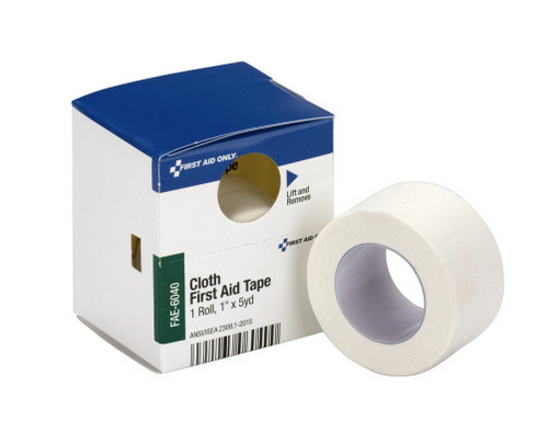 "Cloth First Aid Tape, 1"" x 5 yard, 1 roll"