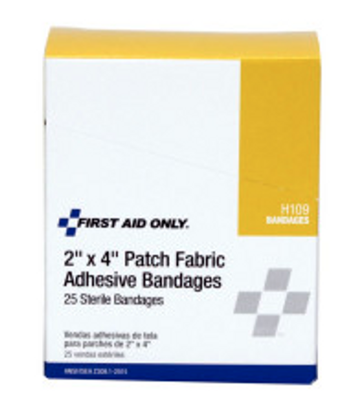 "2""x4"" Patch Fabric Adhesive Bandage, 25 Per Box"