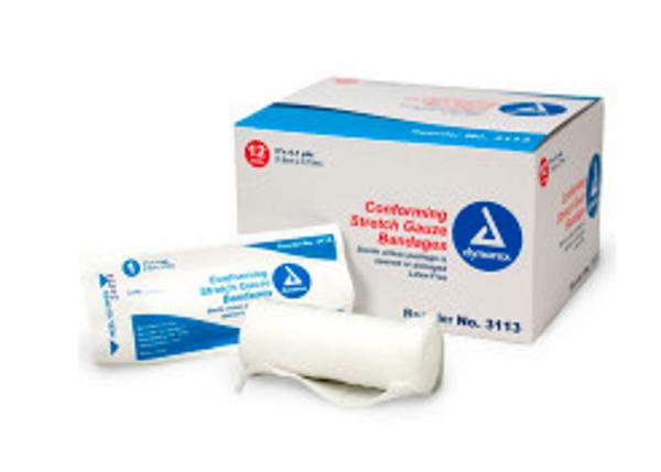 "Conforming Gauze Roll Bandage, Sterile 3"" x 4.1 yd - 12 per bag"