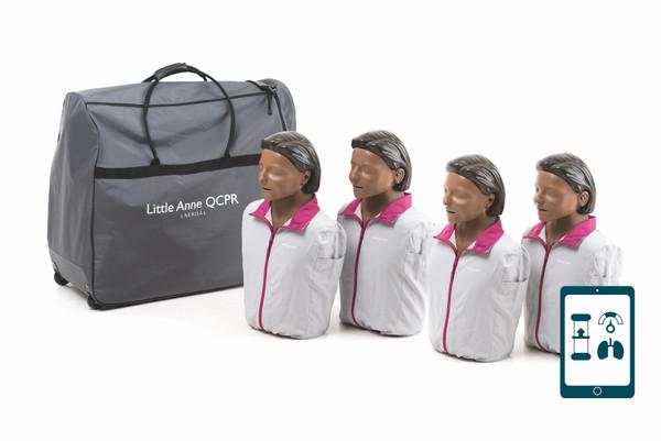 Little Anne® QCPR Training Manikin 4-Pack (Dark Skin)