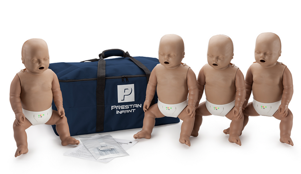 Prestan Professional Infant CPR-AED Training Manikin (Dark Skin, With CPR Monitor) 4-Pack