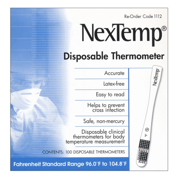 NexTemp Thermometers - Sterile (100/Box)