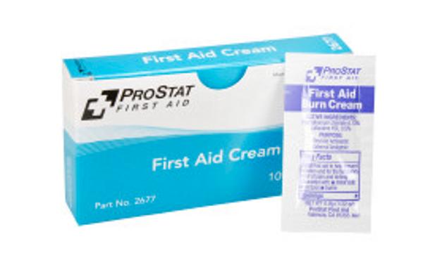First Aid Burn Cream, 0.9gm, 10 packets per box