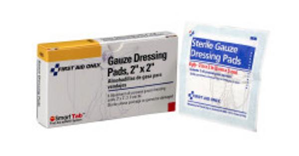 "Gauze Dressing Pad, 2"" x 2"" - 6 per box"
