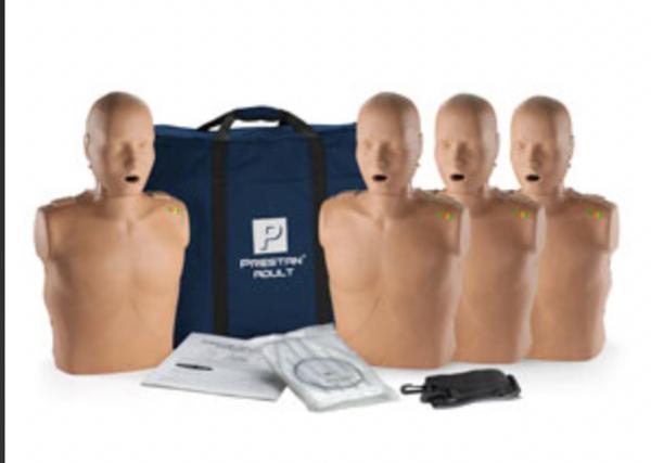 Prestan Manikin Dark Skin Adult 4-Pack with CPR Monitor