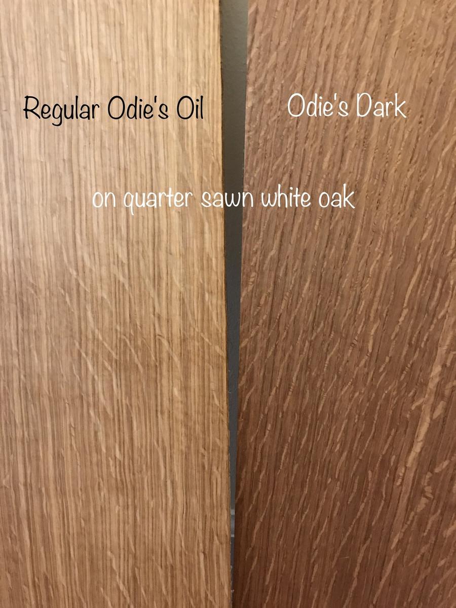 Odie's Oil Regular vs. Odie's Dark on Quarter Sawn White Oak