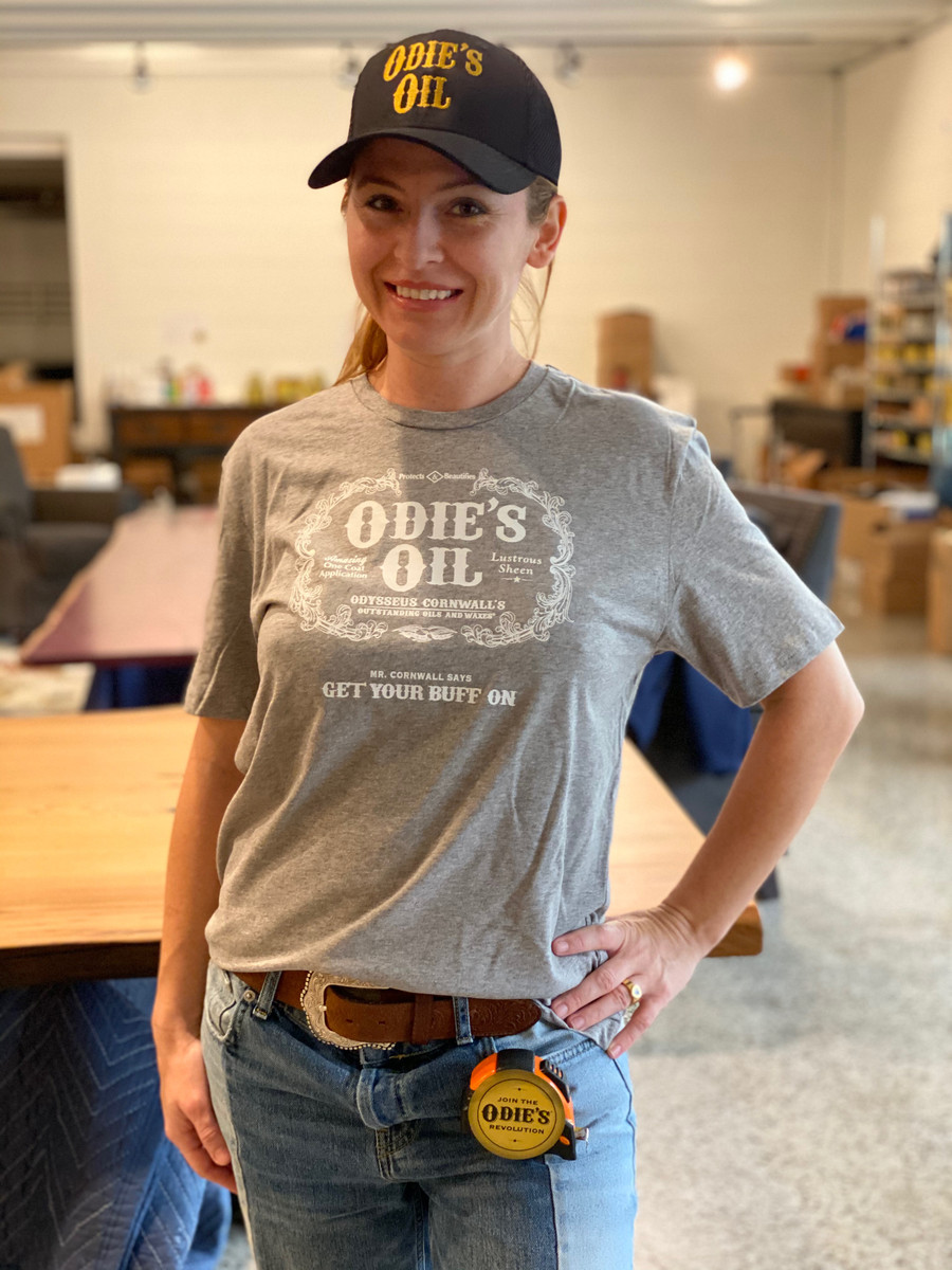 Odie's oil Buff Off Unisex T-shirt Heathered Steel