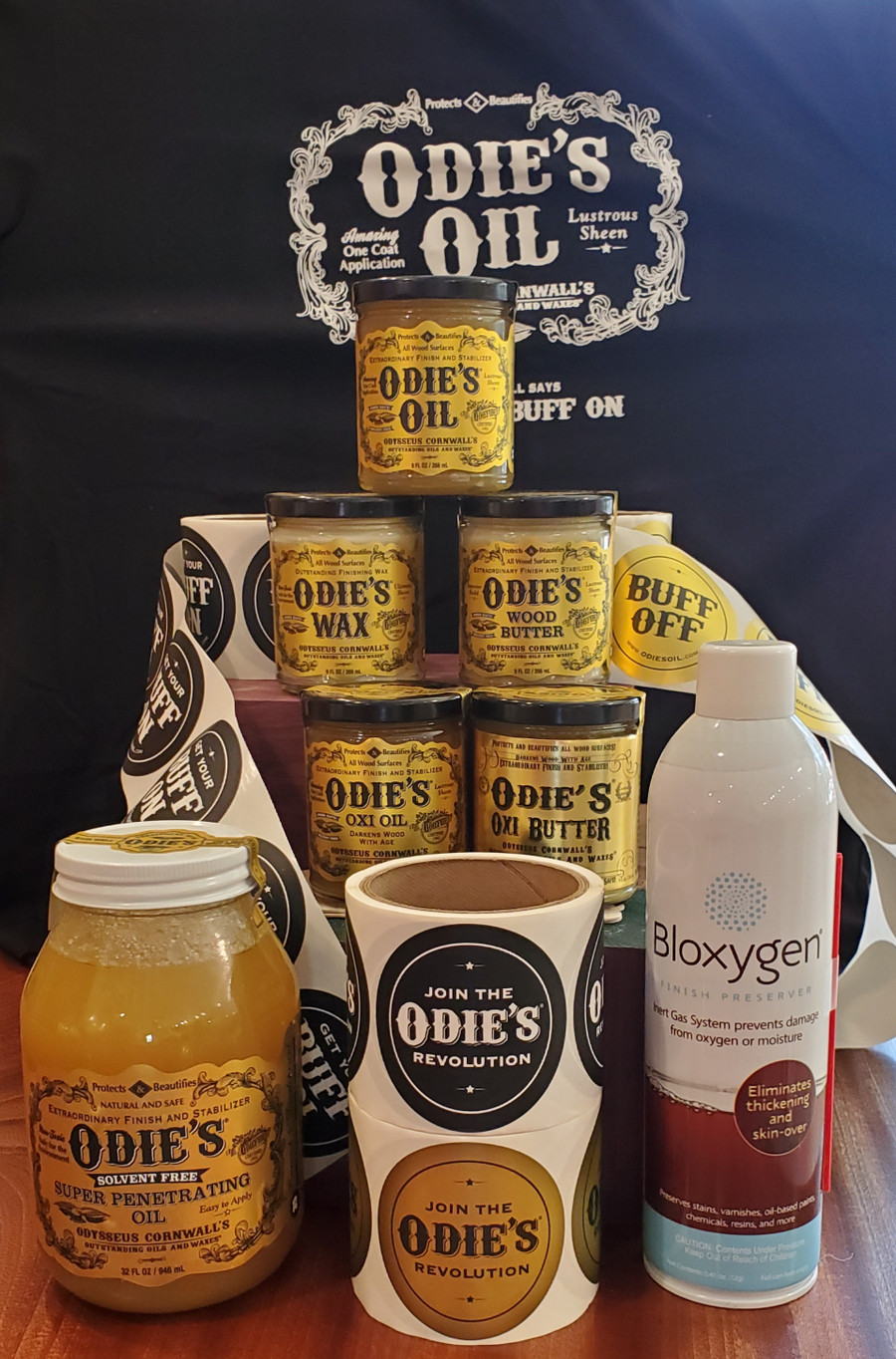Big Kit Special - Selection of Odie's Finishes Plus FREE Oxi Butter, FREE Bloxygen, and FREE T-shirt - Limited Offer