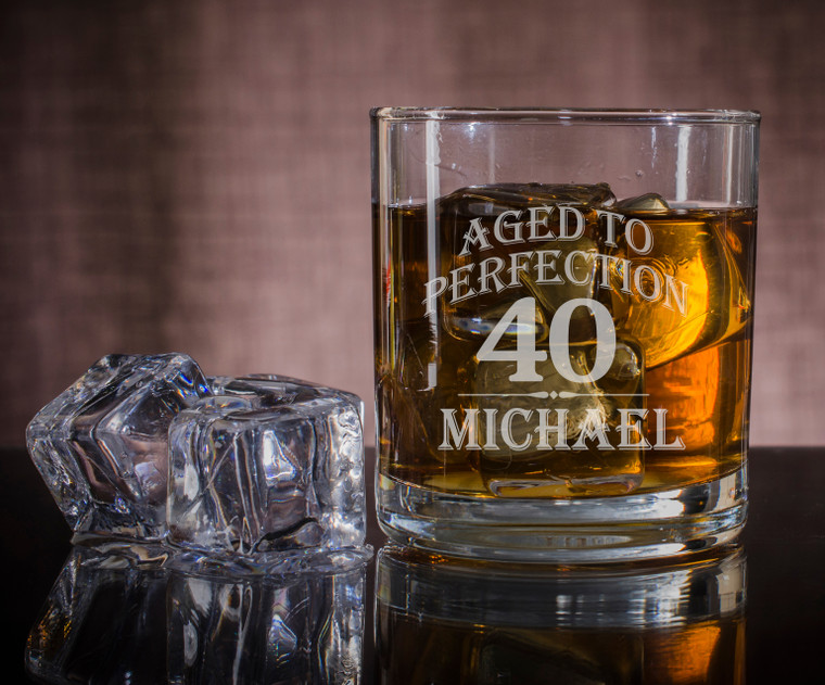 AGED TO PERFECTION WHISKEY GLASS