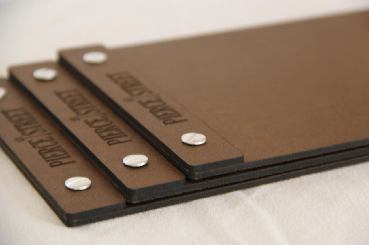 hardboard menu board with screws 8 5 x 14