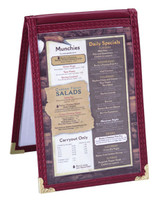 Leatherette Sewn Table Tents