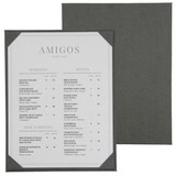 Linen Menu Boards with Corners or Strips
