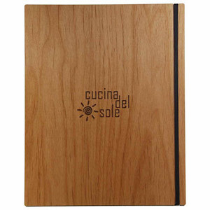 Alder Wood Menu Boards with Vertical Band