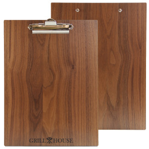 Walnut Wood Menu Boards with Clip