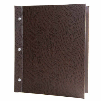 Ostrich Chicago Menu Board shown in dark brown with aluminum screws