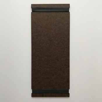 Hardboard Menu Board with Bands 4.25 x 11 Back View
