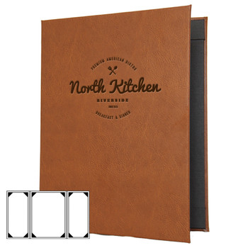 Bordeaux Three View Gatefold Menu Cover with Diagram