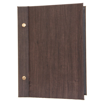 Wood Look Chicago Menu Board 5.5 x 8.5