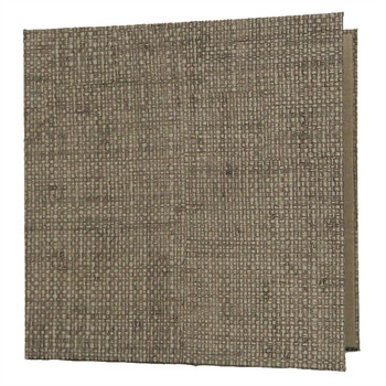 Bahama Weave Three Ring Binder 8.5 x 8.5 shown in Glacier Sand.
