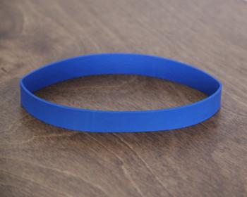 Large blue menu bands for restaurant menu boards.