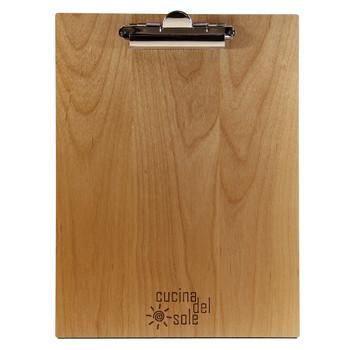 Alder Wood Menu Clipboard