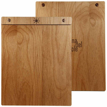 Alder Wood Menu Board with Screws 8.5 x 11 - Front and Back