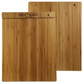 Bamboo Wood Menu Board with Screws 8.5 x 11 - Front and Back