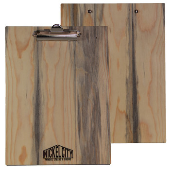 Blue Pine Wood Menu Clipboard