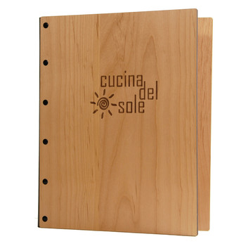 Riveted Alder Wood Screw Post Menu Cover