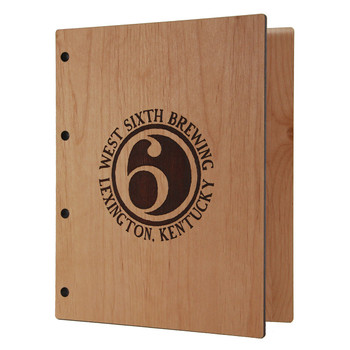 Riveted Alder Wood Three Ring Binder 5.5 x 8.5