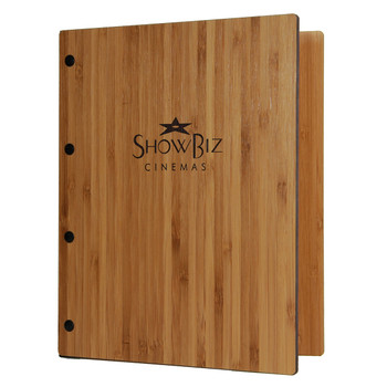 Riveted Bamboo Wood Three Ring Binder 5.5 x 8.5