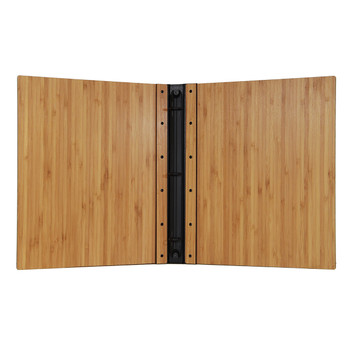 Riveted Bamboo Wood Three Ring Binder Interior