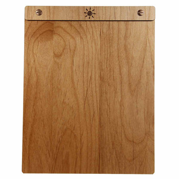 Sample Wood Menu Board with Screws.  Alder wood with bronze screws shown.