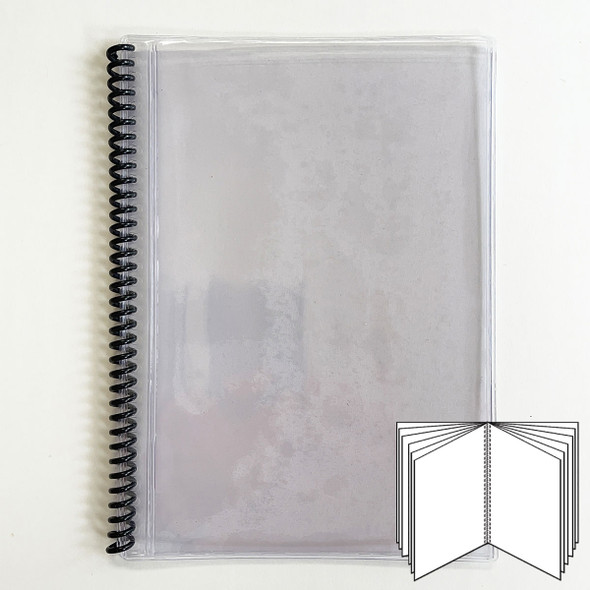 All Clear Spiral Menu Cover 12 Pages (24 Views) to fit 5.5x8.5 inserts