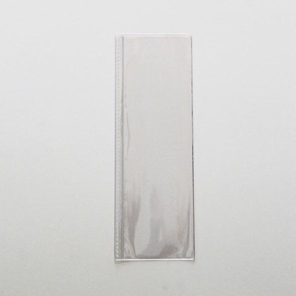 Clear spiral pocket 4.25 x 14