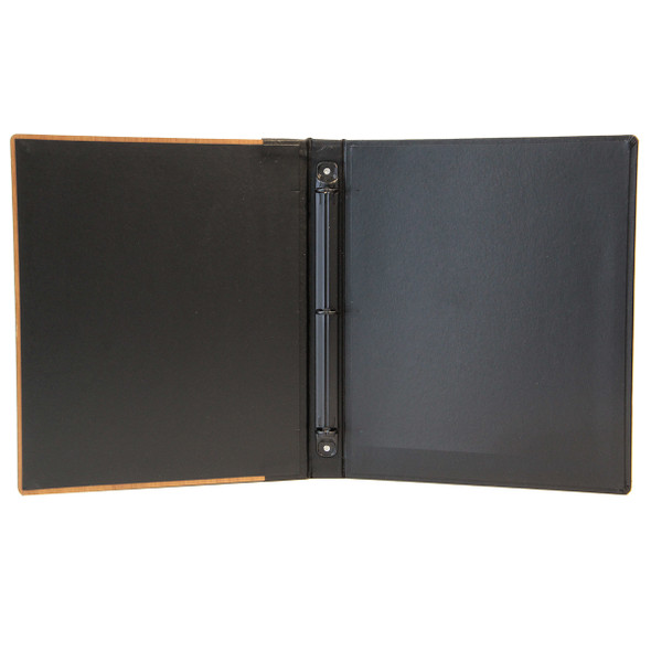 Interior of Solid Wood Three Ring Binder