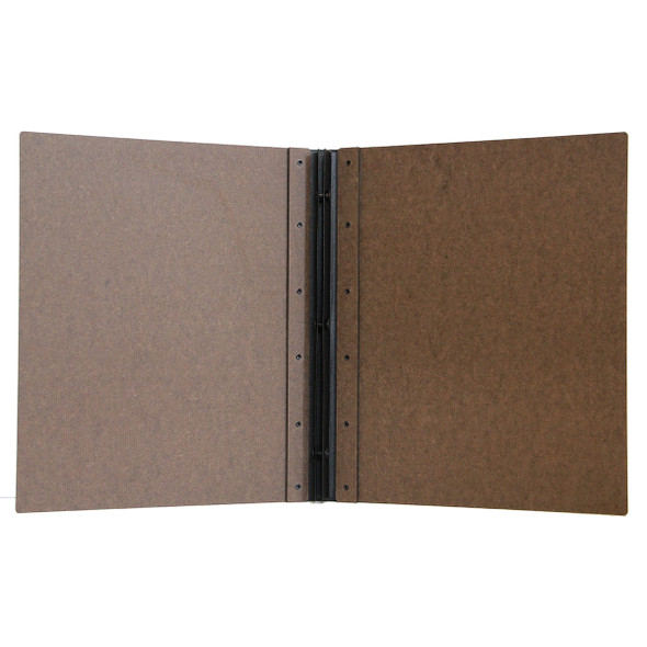 Riveted Hardboard Screw Post Menu Cover Interior