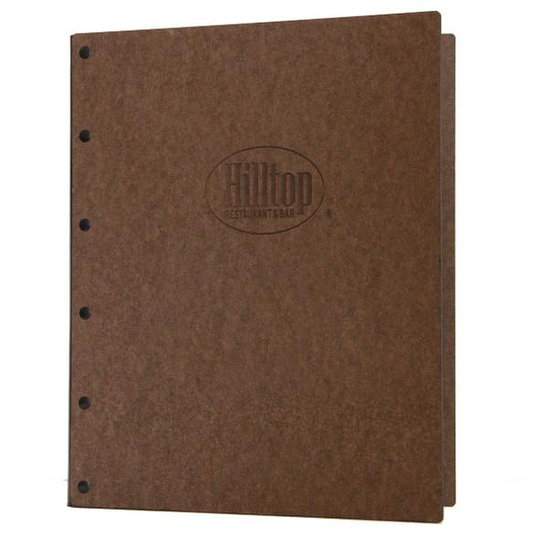 Riveted Hardboard Screw Post Menu Cover