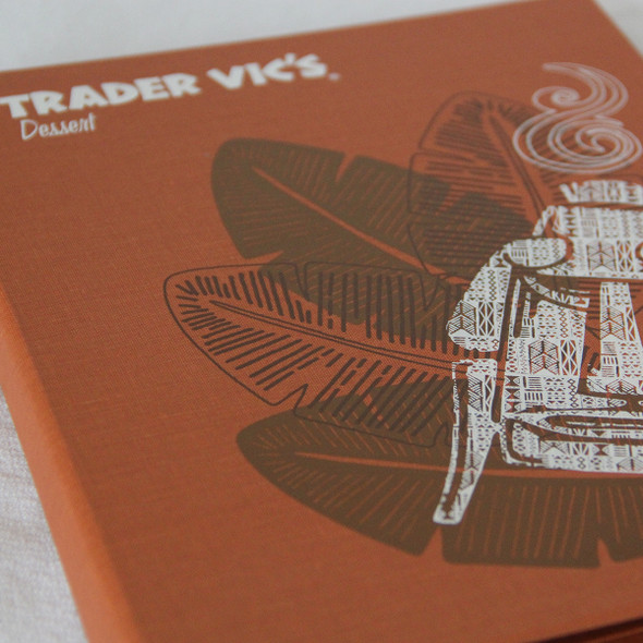 Screenprinted Artwork on Linen Menu Cover