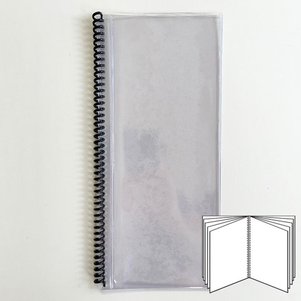 All Clear Spiral Menu Cover 10 Pages (20 Views) to fit 4.25x11 inserts