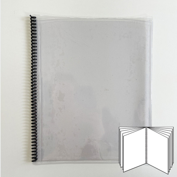 All Clear Spiral Menu Cover 11 Pages  (22 Views) to fit 8.5x11 inserts