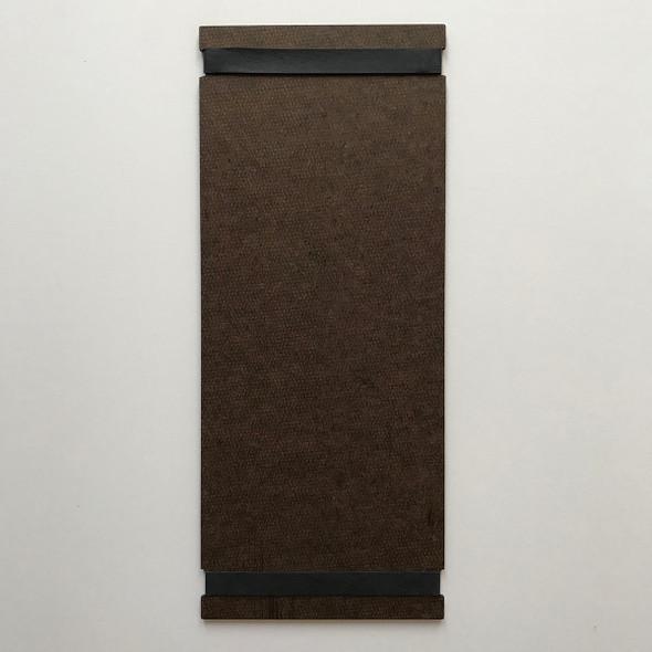 Hardboard Menu Board with Bands 4.25 x 11 Back View