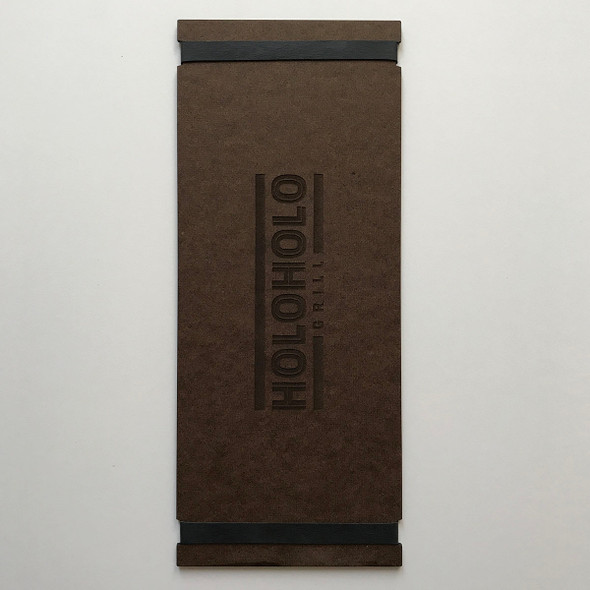 Hardboard Menu Board with Bands 4.25 x 11