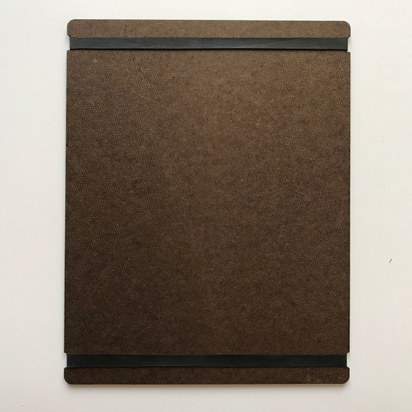 Hardboard Menu Board with Bands 8.5 x 11 Back View