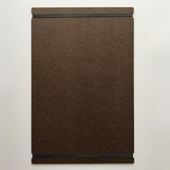 Hardboard Menu Board with Bands 11x17 Back View