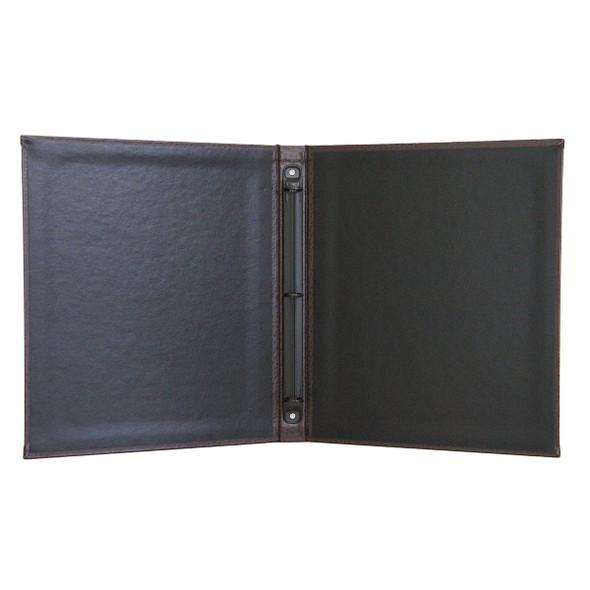 "Ostrich Three Ring Binder interior with delano black interior panels and 1/2"" black mechanism"