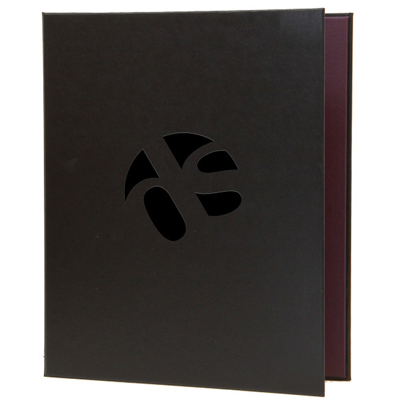 Delano Screw Post Menu Cover in black.